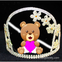 Rhinestone Cartoon Bear Crowns For Gift